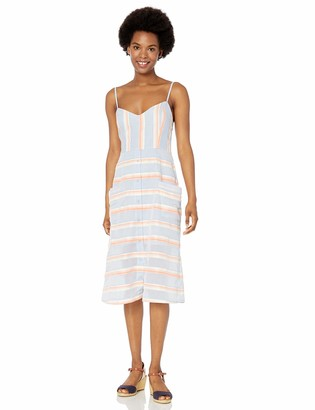 BB Dakota Women's Late in The Day Yarn Dyed Stripe Dress