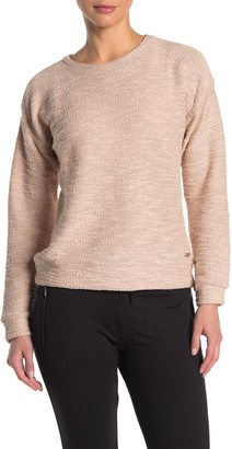 Andrew Marc Boucle Crew Neck Pullover