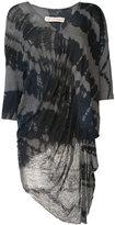 Raquel Allegra long tie dye top - women - Cotton/Polyester - 3