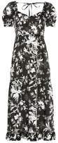 McQ Ruffled Négligé Soho Florals dress