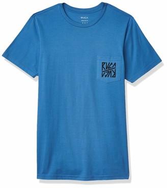 RVCA Men's Sequel Short Sleeve Crew Neck Pocket-Shirt