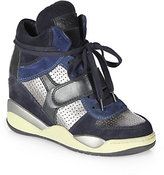 Ash Funky Bis Suede & Leather Wedge Sneakers