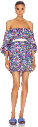 BERNADETTE Billy Cotton Poplin Dress in Jellypop Purple | FWRD