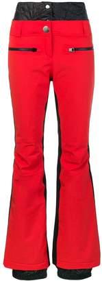 Rossignol side stripe bootleg trousers