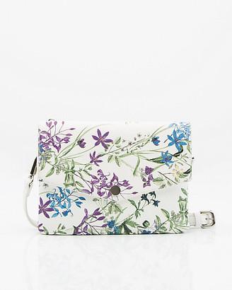Le Château Floral Print Faux Leather Crossbody Bag
