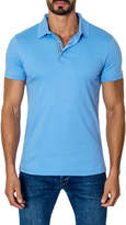 Jared Lang Men's Solid Spread Collar Polo