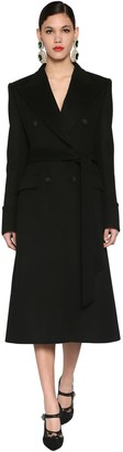 Dolce & Gabbana Double Breasted Virgin Wool Coat