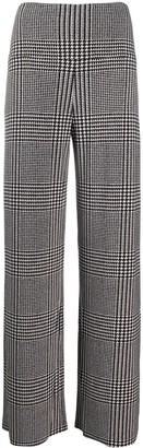 Norma Kamali Glenn Plaid Straight-Leg Trousers