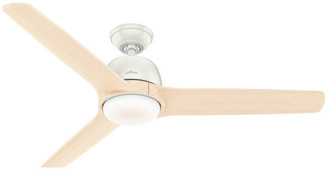 "Hunter 54"" Norden Fresh White Ceiling Fan With Light Kit and Remote"