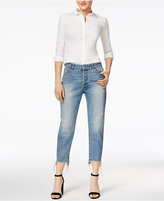 Dl 1961 Goldie Cotton High-Rise Tapered Jeans