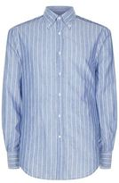 Brunello Cucinelli Cotton Linen Striped Shirt