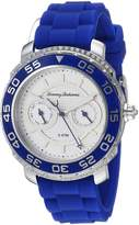 Tommy Bahama Women's Quartz Stainless Steel and Silicone Casual Watch, Color:Blue (Model: TB00025-02)