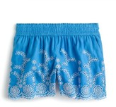 J.Crew Women's Floral Embroidered Pull-On Linen & Cotton Shorts