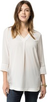 Tommy Hilfiger Final Sale-Silk V-Neck Tunic
