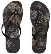 Havaianas Slim Logo Metallic Bloom Flip Flops Women's Sandals