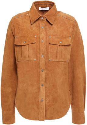 Frame Studded Suede Shirt