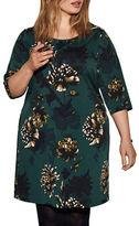 Junarose Floral Printed Three-Quarter Sleeve Dress