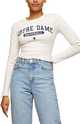 Topshop Notre Dame Graphic Tee