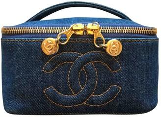Chanel Vanity Blue Denim - Jeans Handbags