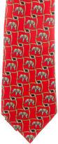 Burberry Elephant Print Silk Tie