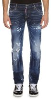DSQUARED2 Slim-Fit Distressed Jeans, Blue