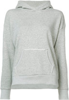Simon Miller frayed kangaroo pocket hoodie - women - Cotton - 1