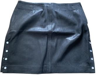 Claudie Pierlot FW18 Black Leather Skirt for Women