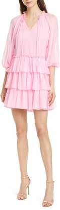 Alice + Olivia Layla Silk Tiered Dress