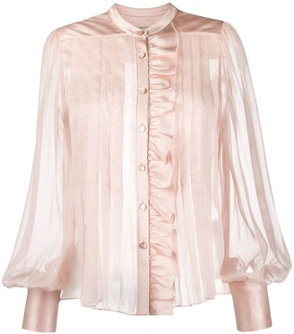 Temperley London Pleated Sheer Blouse