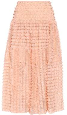Chloé Lace silk skirt