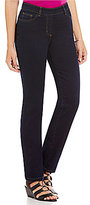 Allison Daley Petite Modern Straight Leg Pull-On Jeans