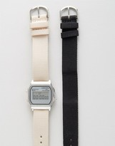 Asos Pack of 2 Interchangeable Neutral Straps Digital Watch Set