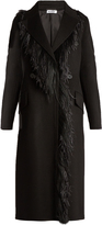 Jil Sander Bayern feather-trimmed cashmere coat