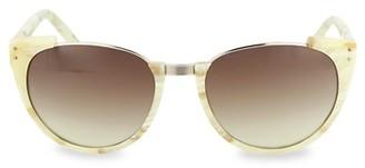 Linda Farrow 54MM Oval Core Novelty Sunglasses