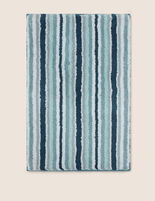 Marks and Spencer Super Soft Striped Quick Dry Bath Mat