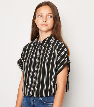 New Look Girls Stripe Boxy Shirt