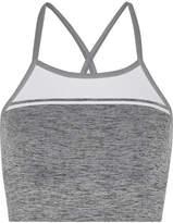 LNDR - Yoga Stretch-knit Sports Bra - Gray
