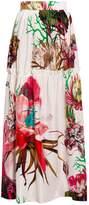 Roberto Cavalli Floral Print Maxi Skirt