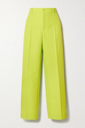 Balenciaga Neon Twill Straight-leg Pants - Yellow