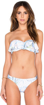 Mara Hoffman Ruffle Bandeau Bikini Top