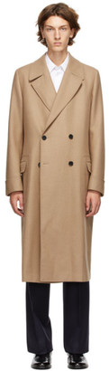 Husbands Beige Wool Double-Breasted Coat
