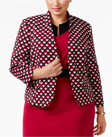 Nine West Plus Size Geo-Print Blazer