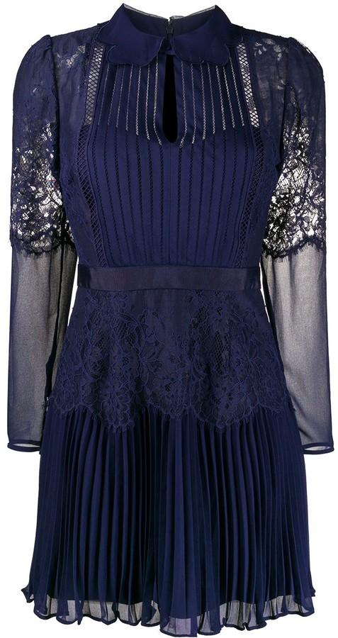 Self-Portrait Panelled Lace Dress