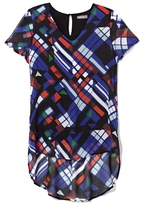 Vince Camuto Graphic-Print Shirttail Top