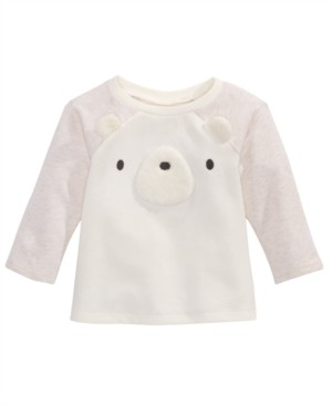 First Impressions Baby Girls Bear-Face Top, Created for Macy's