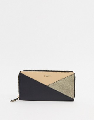 Paul Costelloe Leather Color Block Ladies' wallet In Black and Pink