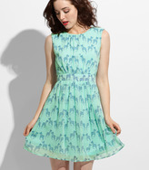 Fred Flare Cool Mint Zebra Dress