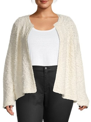 Eileen Fisher Plus Open-Front Cardigan Sweater