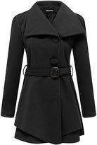Wantdo Women's Wool Wrap Swing Coat With Belt , US L