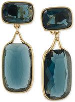 Lauren Ralph Lauren Gold-Tone Large Stone Clip Earrings